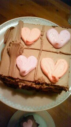 私のボーナスは‥チョコケーキ。