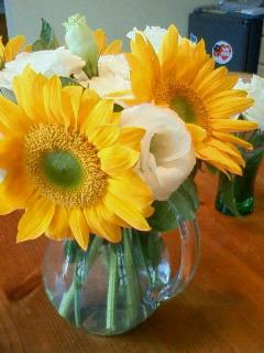 いただいたひまわりのお花。。。
